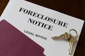 Foreclosure notice of default