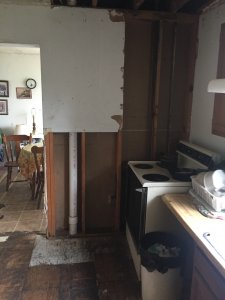 This is the kitchen of house in very poor condition.  We buy houses as in for cash in Austin