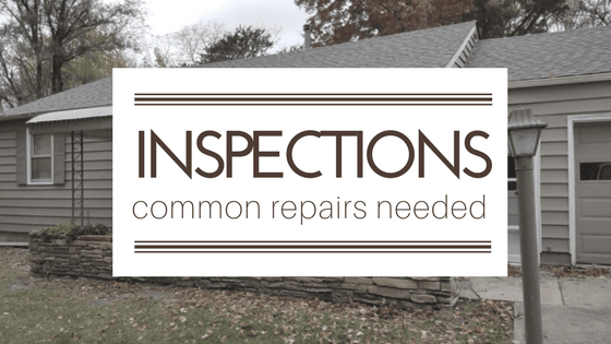 Four Most Common Inspection Repair Items When You Sell