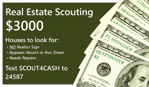 Make Money Driving Around Real Estate Scouting or Being a Bird Dog