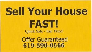 Sell My House FAST in San Diego