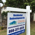 Oahu Home Buyers yard sign - Makakoa Loop Waipahu