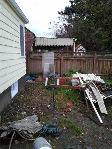 Backyard Before the Repairs