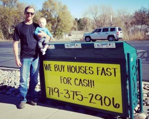 we buy houses fast for cash colorado springs sign