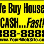 We Buy Houses Charleston WV sign