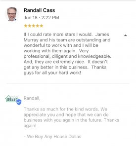 randall cass real estate review we buy any house dallas