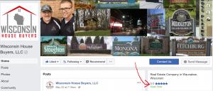 Wisconsin House Buyers, LLC Facebook Reviews