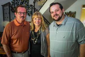 Carl, Lynne and Jim Bynum