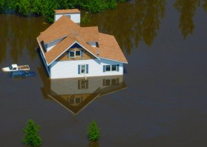 Flooded home during Hurricane Harvey?