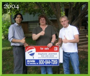 Alan and Aria from 5280 Homebuyers. Their first purchase in 2004.