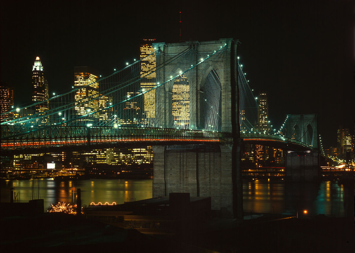 The Brooklyn Bridge at night - on the sell your house fast in Long Island NY page