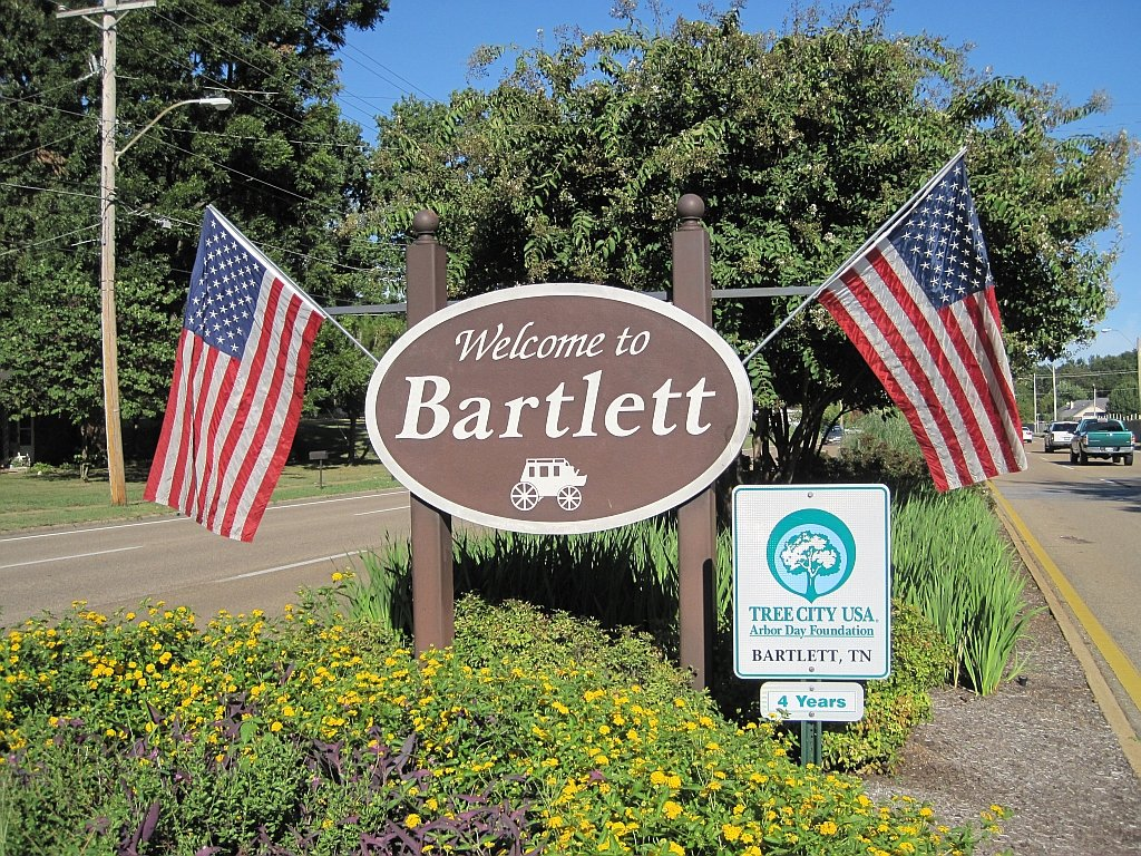 Welcome to Bartlett sign