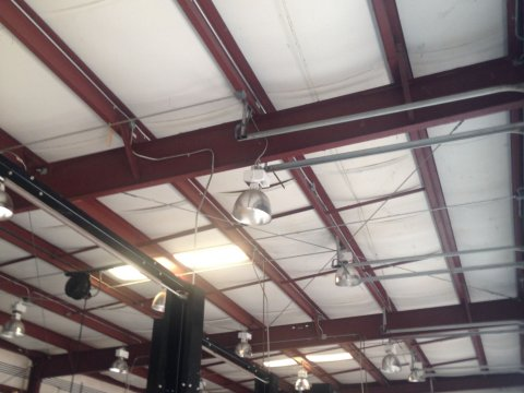 canton ga auto repair shop ceiling