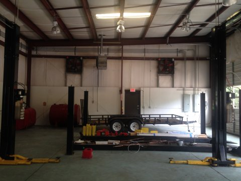canton ga auto repair shop lifts oil storage