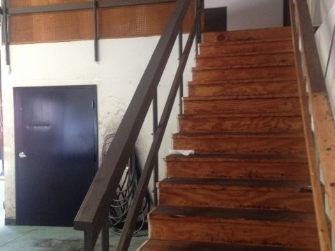 canton ga auto repair shop mezzanine stairs