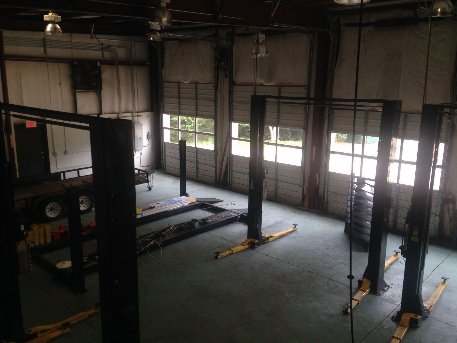 auto repair shop upstairs view