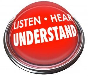 Listen - Hear - Understand Button
