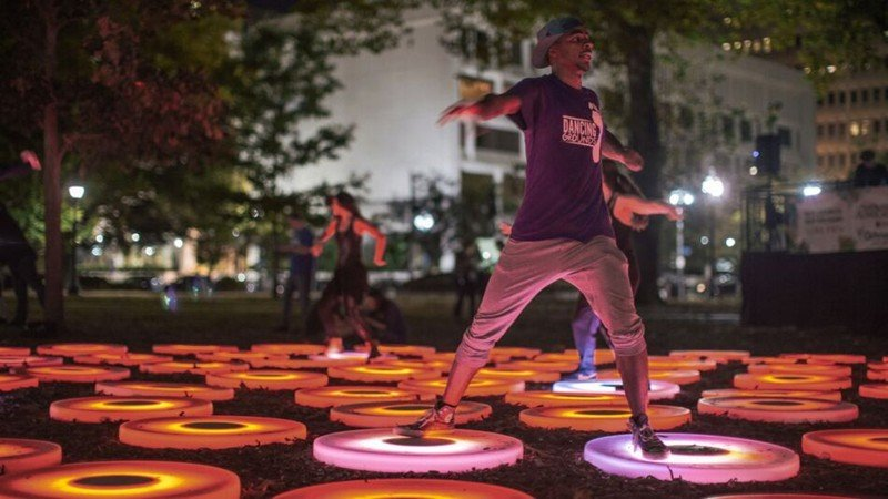 blink cincinnati washington park dance lights