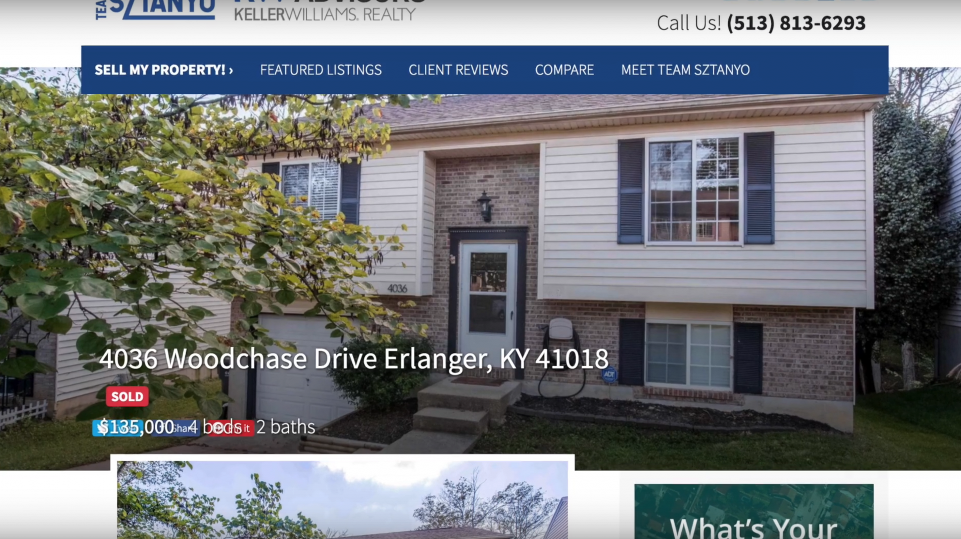 sold house in Erlanger KY when cash offer was not enough