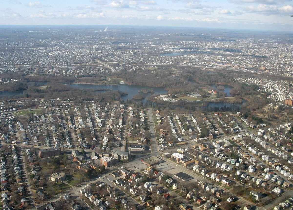 A sky view of Cranston, on the sell your house fast in Cranston RI page