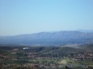 an aerial view of simi valley real estate