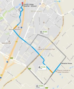 Waze Livemap Driving Directions To Waterfall Office Park Vorna Valley Midrand Suid Afrika