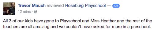 roseburg playschool coop reviews