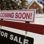 Tips for Selling Your Home in the Winter | snowy coming soon sign