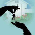 how to sell your home quickly | shadow handing keys front home view