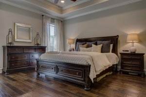 Cozy bedroom in homes for sale Floreville TX