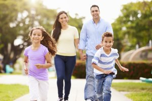 Austin Texas Direct Home Buyers Family Walking in Park