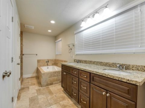 Master bathroom of a rent to own home in Holladay Utah
