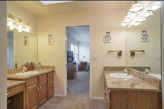 Master bathroom of a seller financing home Layton UT