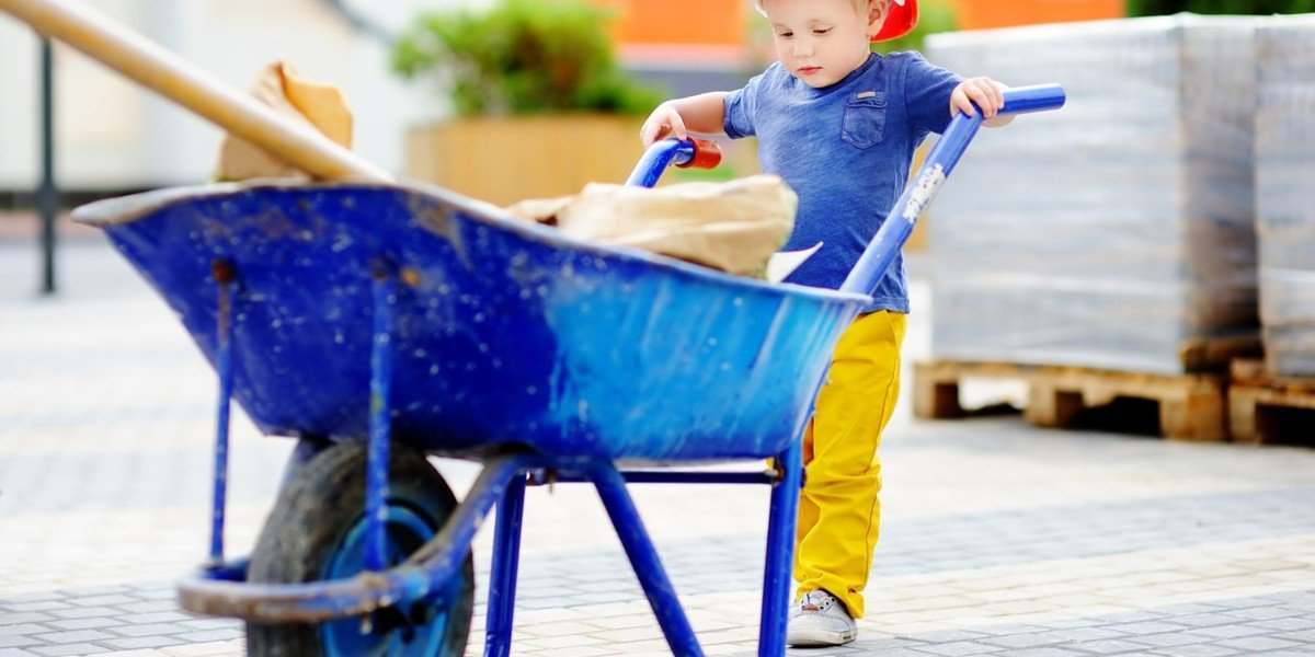 Prepare Your Inherited House For The Sale | kid with wheelbarrow