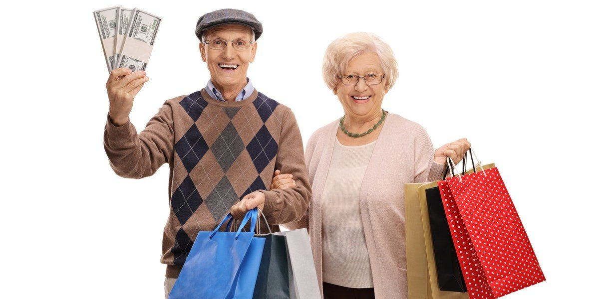ideas for reinvestment   old couple money shopping