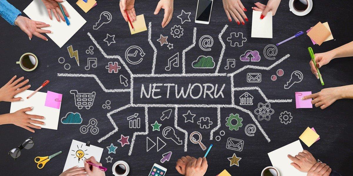 Investing Partnership | network drawn chalkboard
