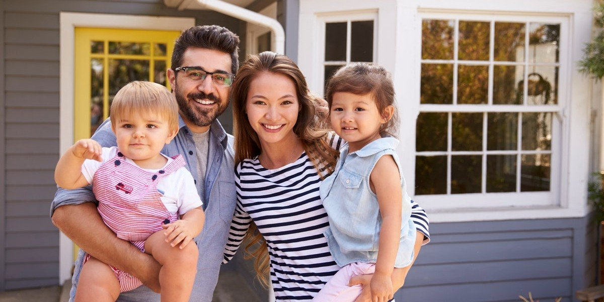 First time home sellers   happy family