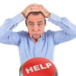 can't sell my house | stressed man help button