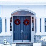 sell your house | blue snowy door