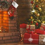 Holiday Themed Open House | christmas fireplace