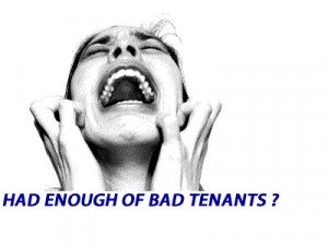 how to sell a house with bad tenants