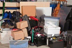 sell a house with tenants in College Station-messy garage