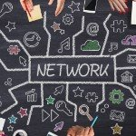 Investing Partnership | networking drawn on chalkboard