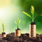 Investment Growth | plants growing from coins