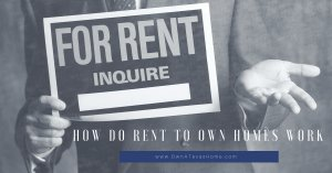 How Do Rent To Own Homes Work