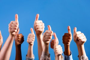 thumbs up happy customers testimonials