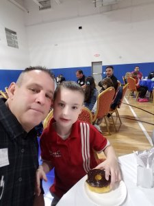 "My 6 year old and I at ""Donuts With Dad"""