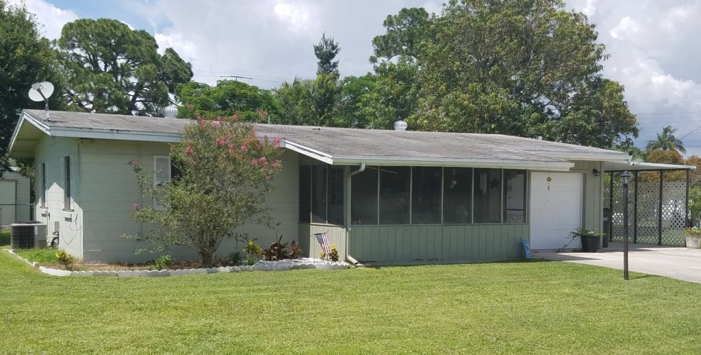 a home we bought in cash in Fort Myers FL