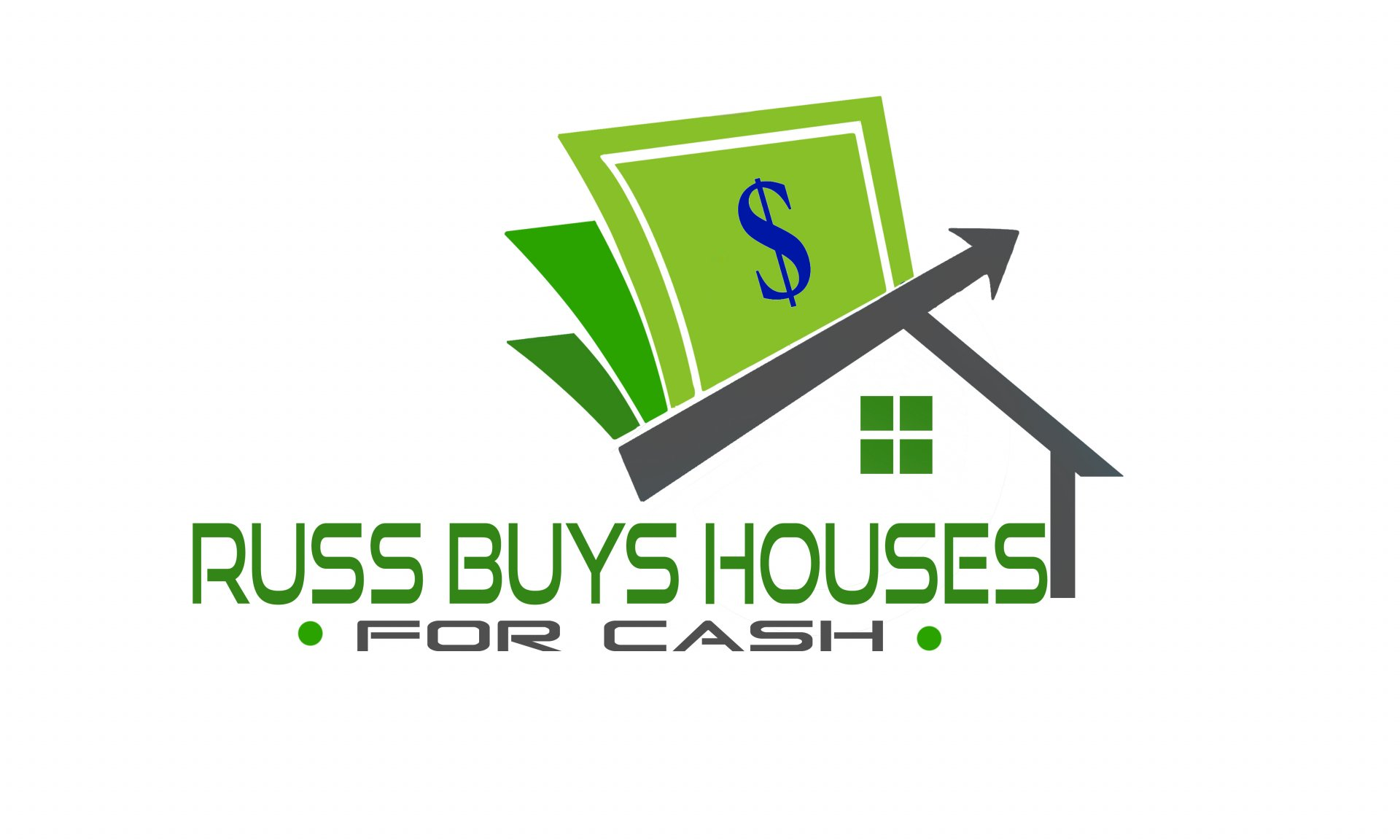 Russ BUYS Houses For CASH logo