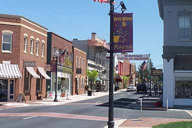 Downtown Manassas, VA - on the Sell your house fast in Manassas page